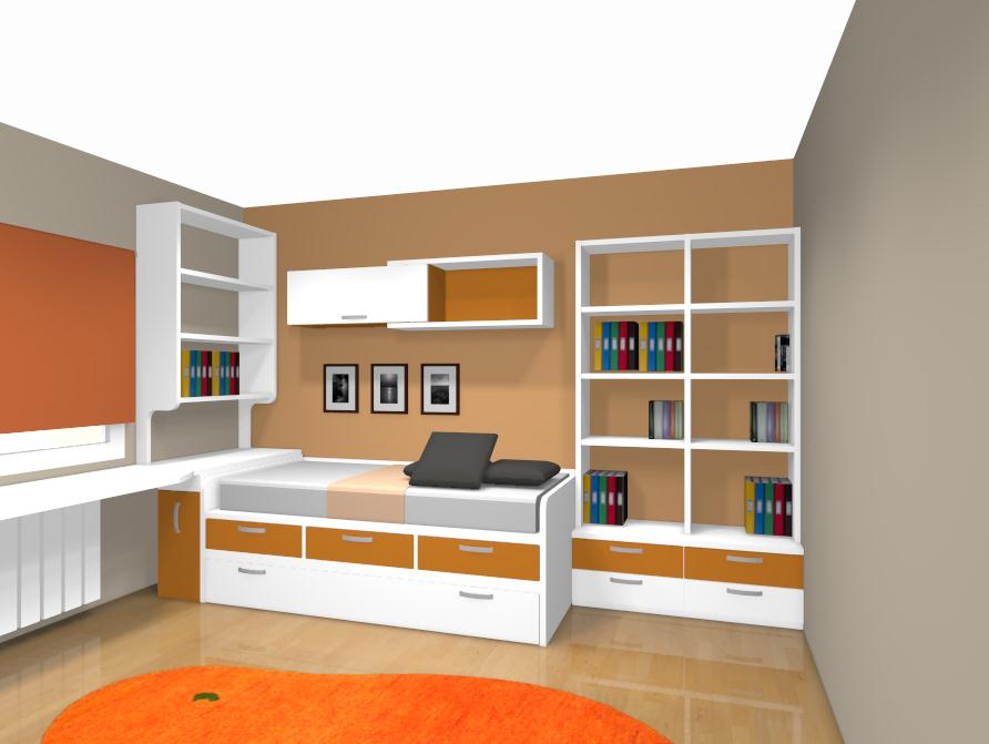 Proyectos realizados por xikara muebles for Dormitorios infantiles madrid