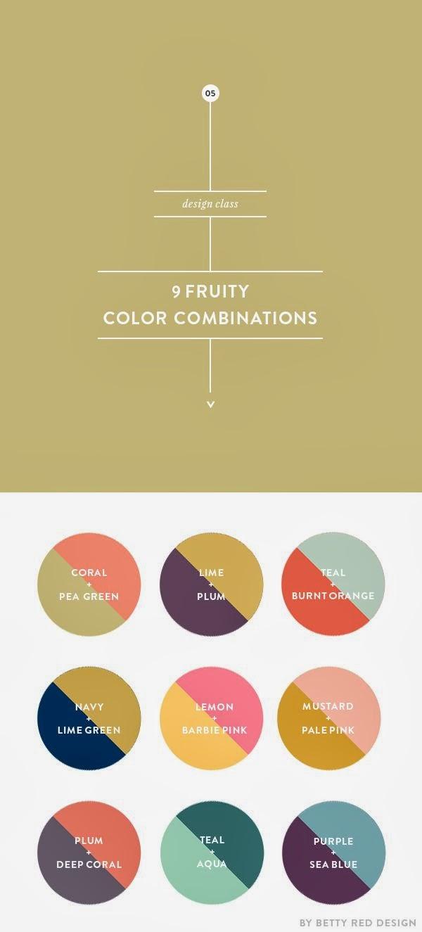 palettes de couleurs d'inspiration rétro...