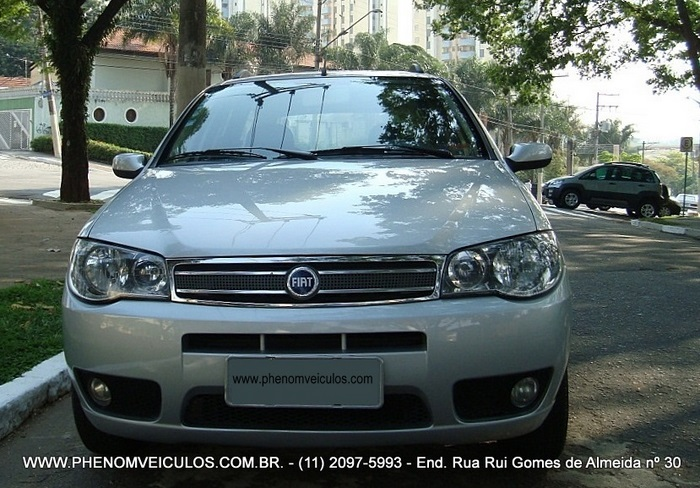 Fiat Palio Weekend ELX 1.4 Flex 2007 prata - frente