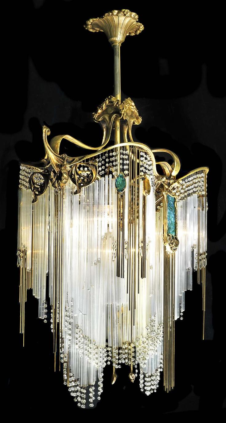 Art Nouveau Chandelier By Hector Guimard