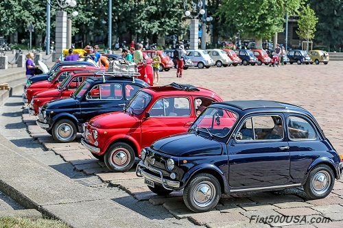 Fiat 500 Classics on Display at Parco Sempione