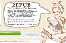 Convertir a ePub y Mobi desde pdf, doc y otros formatos de texto 2Epub
