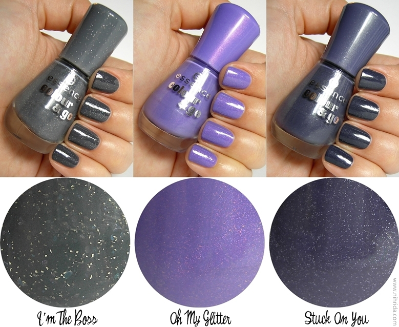 Essence Colour &amp; Go Nail Polish Swatches