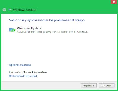 Solucionar problemas de Windows Update
