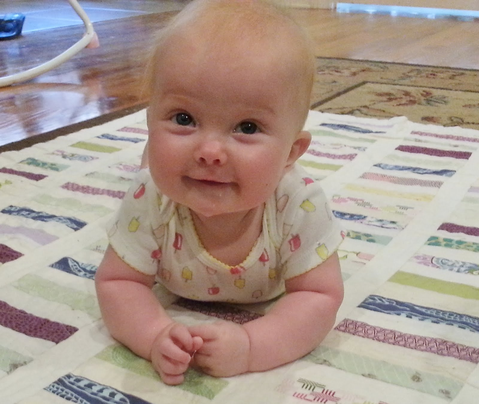 June's tummy time