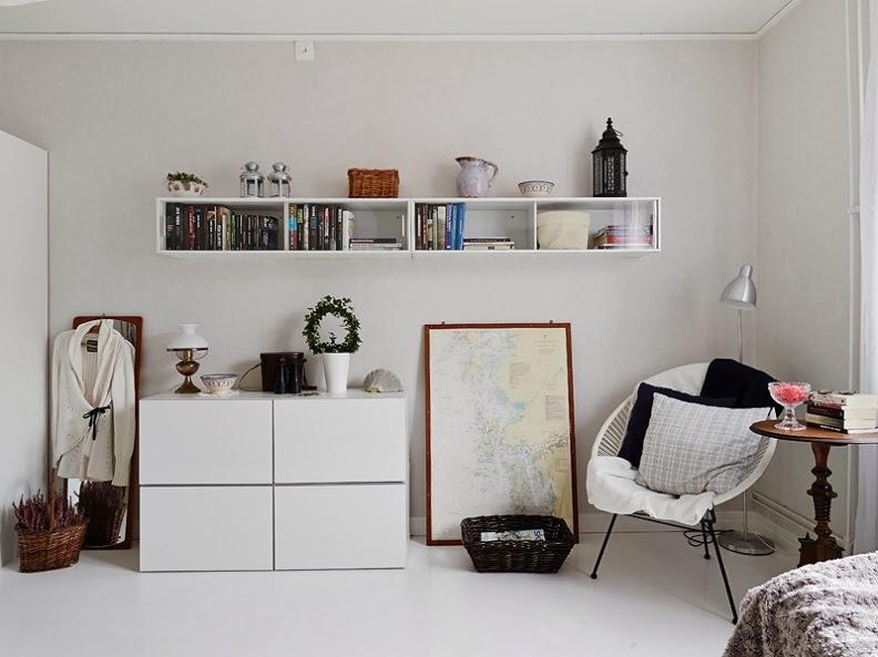 salon y dormitorio en una misma estancia