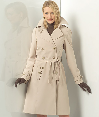 Trench Coat Sewing Pattern 40