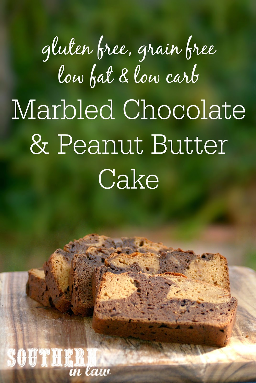 Healthy, High Protein Marbled Chocolate and Peanut Butter Cake - low fat, gluten free, low carb, high protein, grain free, refined sugar free