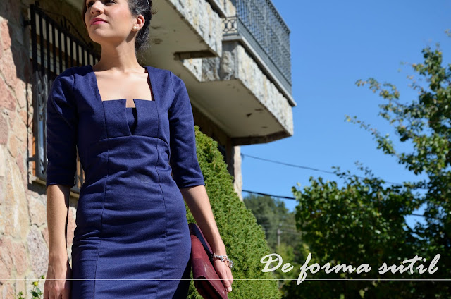 vestido-azul-bolso-burgundy-blue-dress-fashion-blogger-look