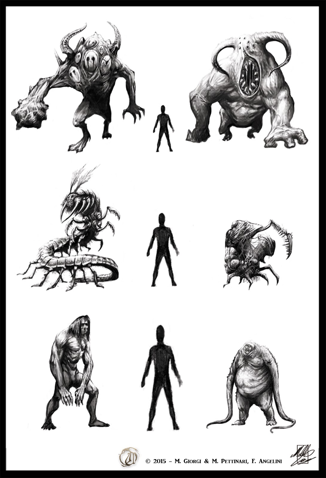 Michele Giorgi Illustrator : Theomachia Ultima -creature ...