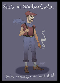 Super Mario, hipster, smoking, Super Mario brothers, cool