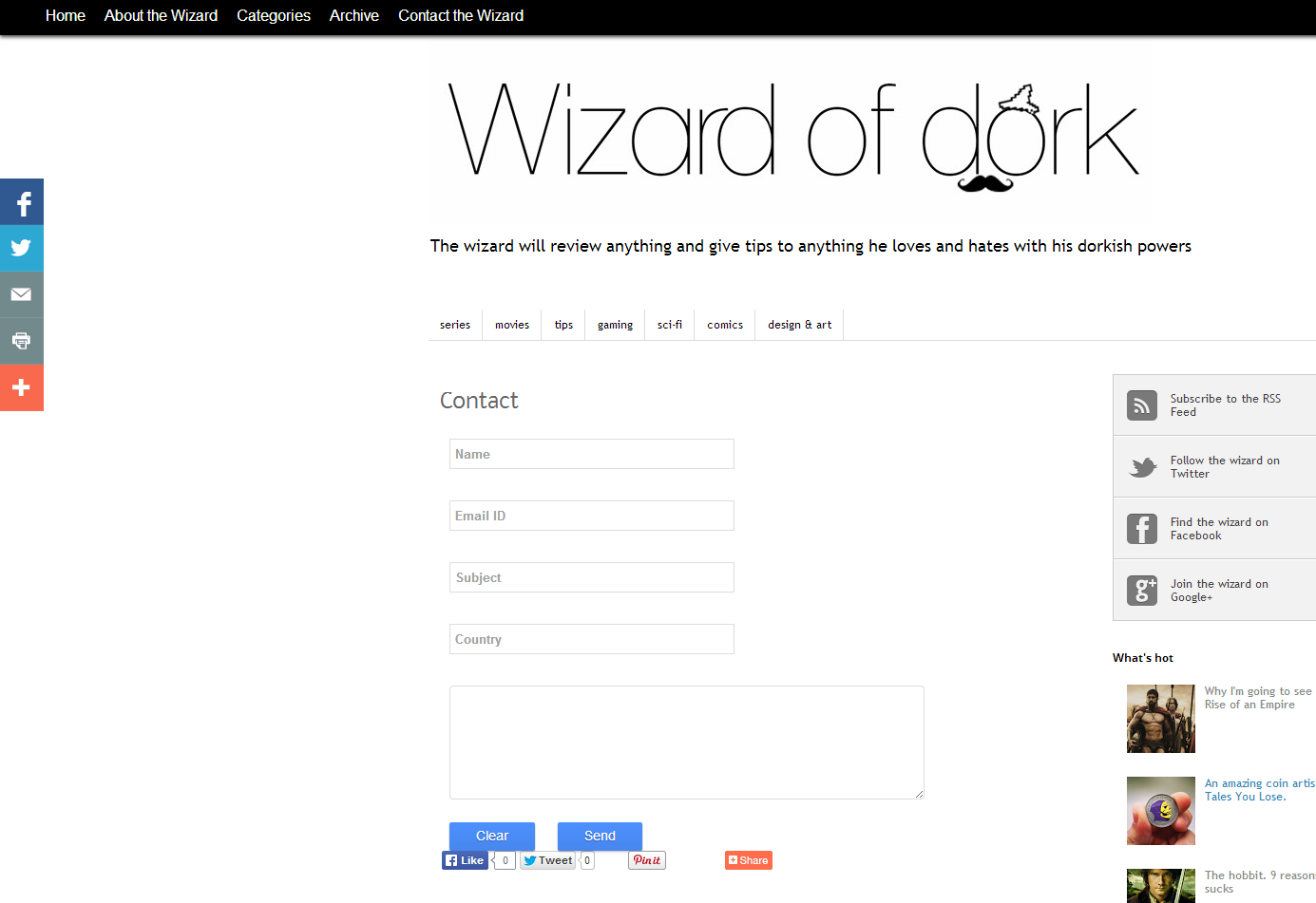 wizard contact form