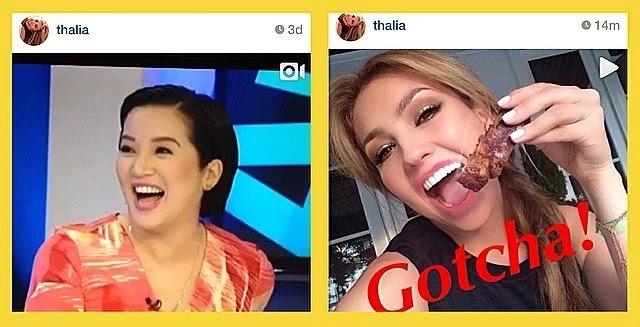 Kris Aquino reacts to Thalia's Instagram posts