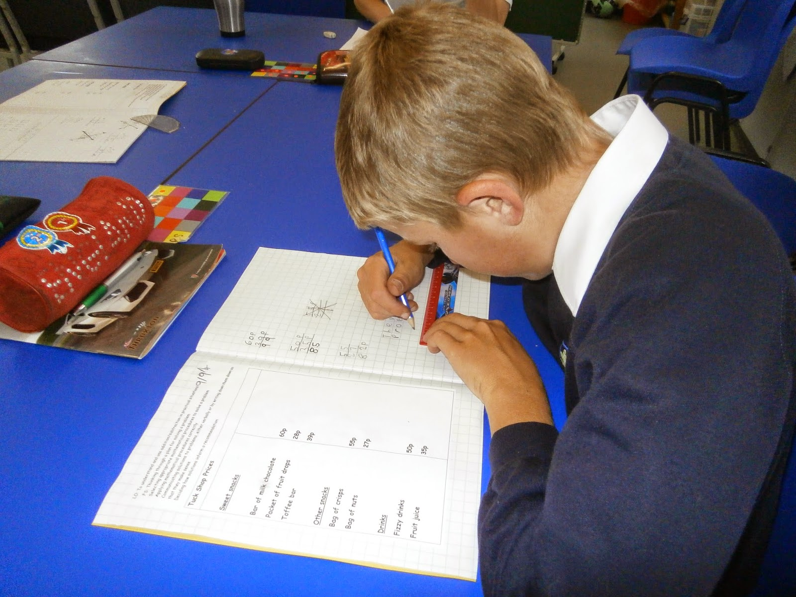 the castle school newbury snapshots of learning part  students in donnington class working independently