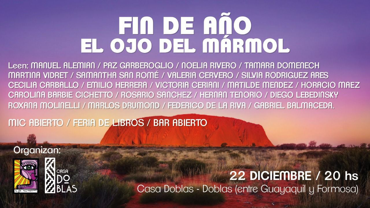 Ciclo organizado por la editorial El Ojo del Mármol. Casa Doblas. 2017.