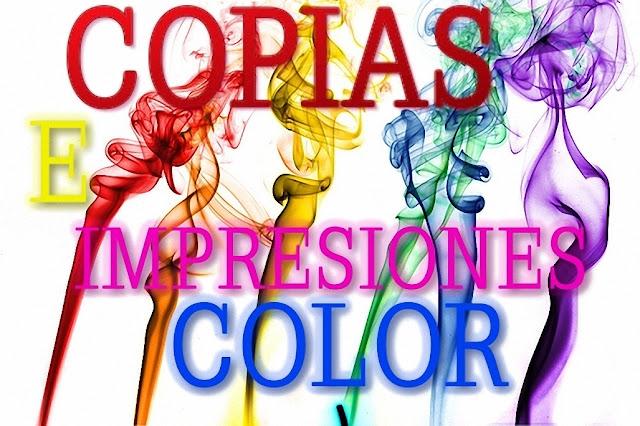 COPIAS E IMPRESIONES A COLOR