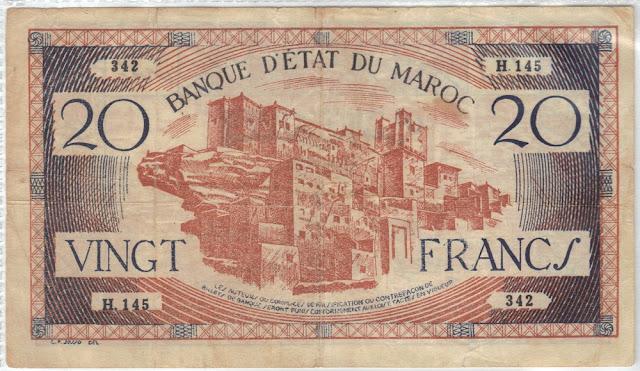 Marocco - 20 Francs - 1943 - P-39