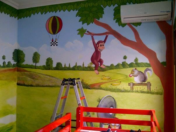 Lukisan dinding kamar tidur