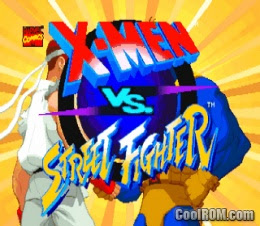 x-men vs. street fighter PS1