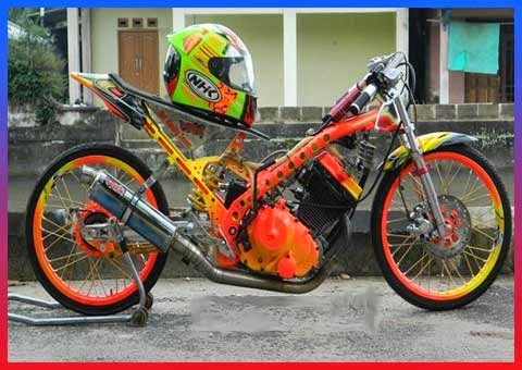 Foto motor drag ninja satria fu