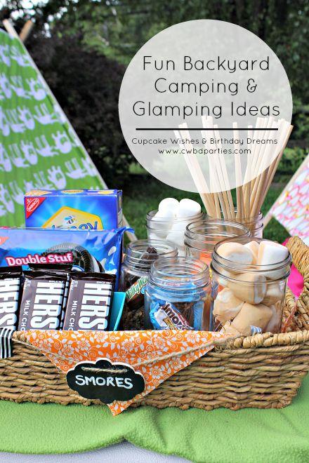 kids tent ideas, smores recipes, smores station, gourmet smores
