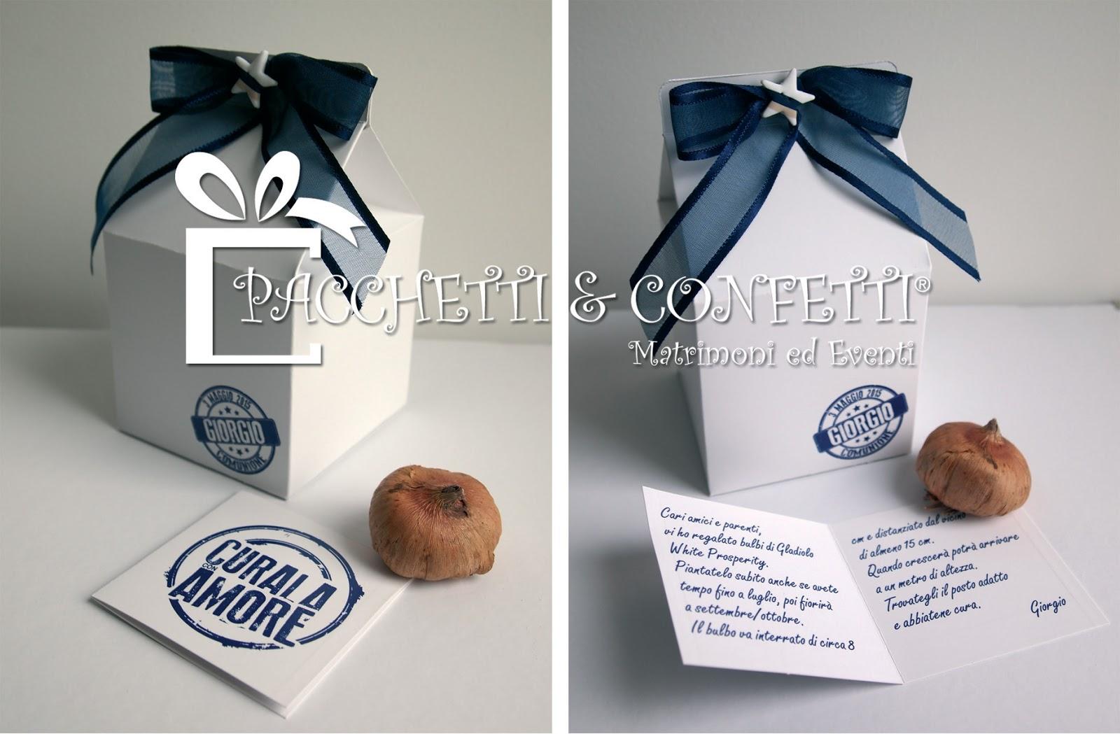Ben noto Pacchetti e Confetti: Bomboniere con bulbi: Milk Box bianche VV41