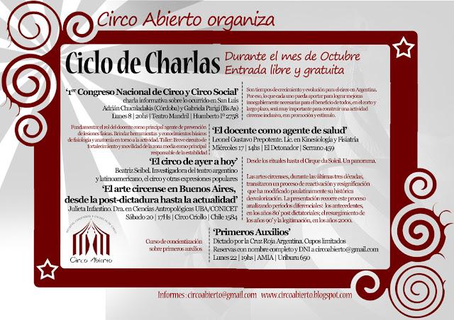 Ciclo de charlas de Octubre
