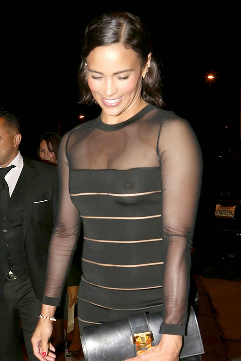 Paula Patton wore a see through dress