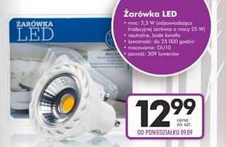 Żarówka LED z Biedronki ulotka