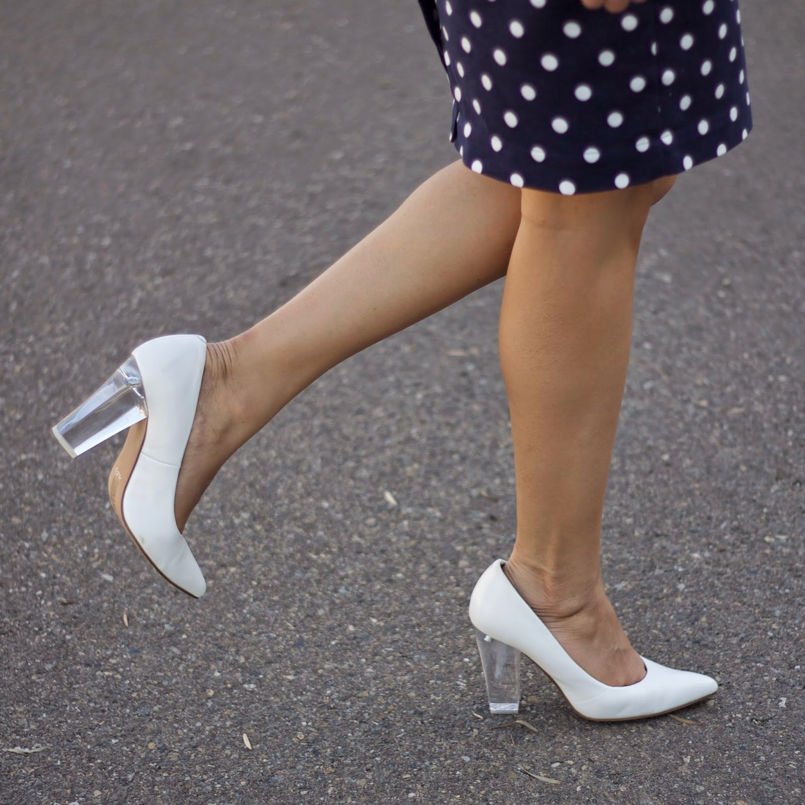 Aldo white lucite heels, see through heels, Aldo with clear heels, white leather heels, how to wear white heels