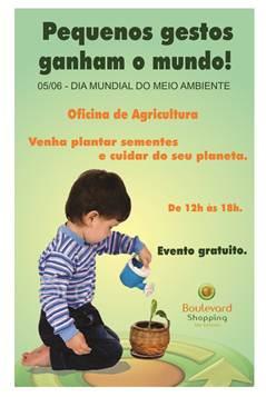Boulevard São Gonçalo promove ação no Dia Mundial do Meio Ambiente