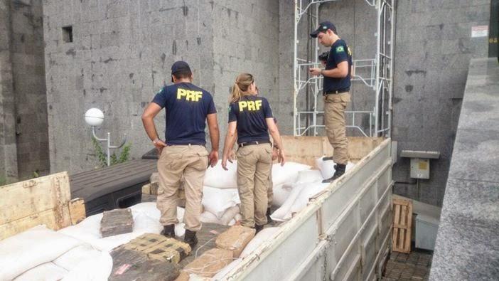 PRF realiza a maior apreensão de drogas da história no Estado de São Paulo