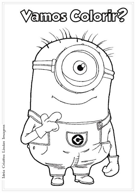 Desenho Minion do Meu Malvado Favorito para colorir