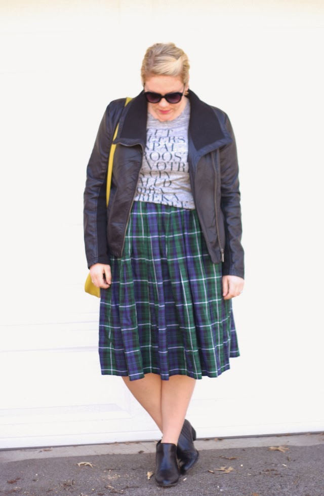 how to wear plaid in an edgy way