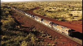 Un gigantesco tren de mercancías australiano recorre 90 km sin conductor