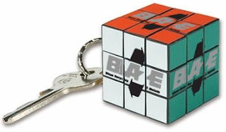 Keychain with Rubik's cube