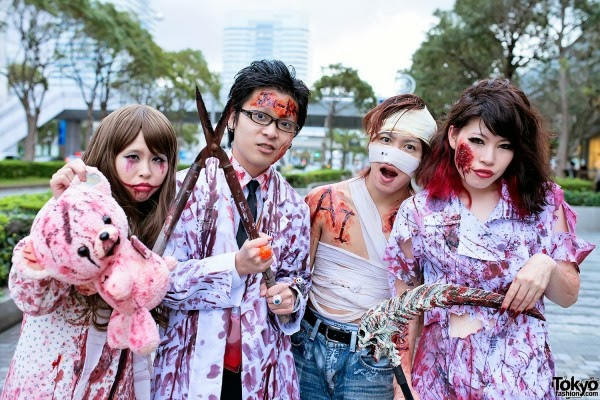 Japanese zombie Halloween group