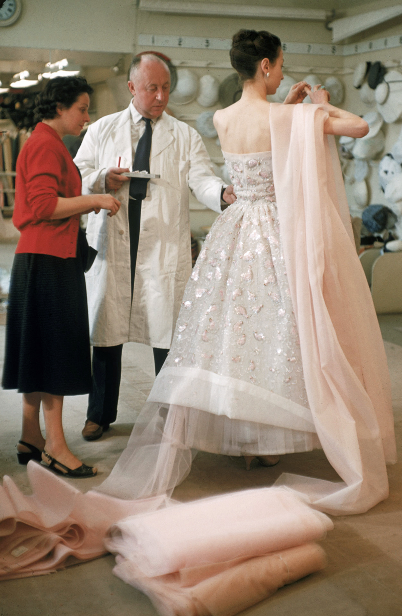 Christian Dior in his Paris salon on 1 February 1957 via fashioned by love / british fashion blog / Christian Dior documentary