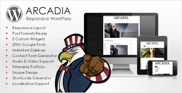 Arcadia - Responsive WordPress Theme Free Download by ThemeForest.