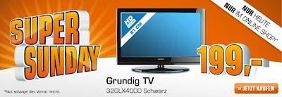 32 Zoll LCD-TV Grundig 32GLX4000 für 199 Euro inklusive Versandkosten bei Saturn