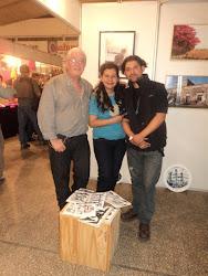 Con el artista Alberto Pucheta y el fotógrafo Leandro Benítez