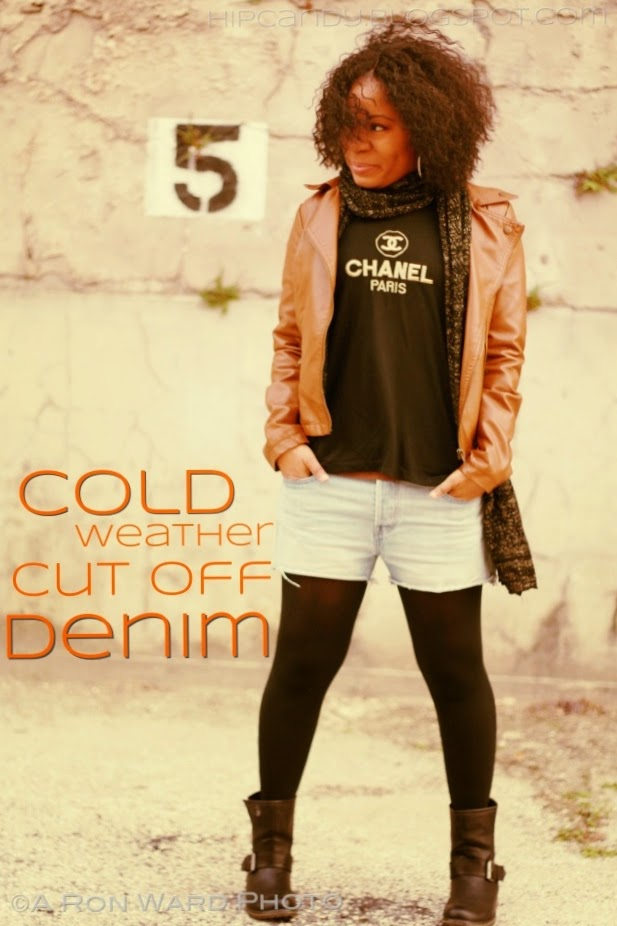 Hip Candy Cold Weather Cut Off Denim