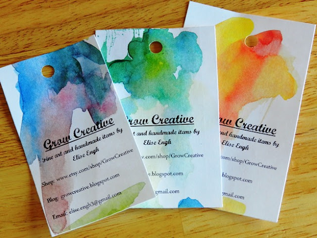 watercolor business cards