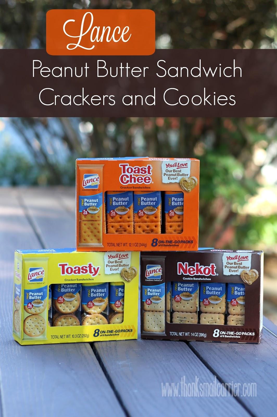 Lance Peanut Butter snacks