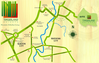 The Leaf at Timberland Heights Quezon City Environs Location Map