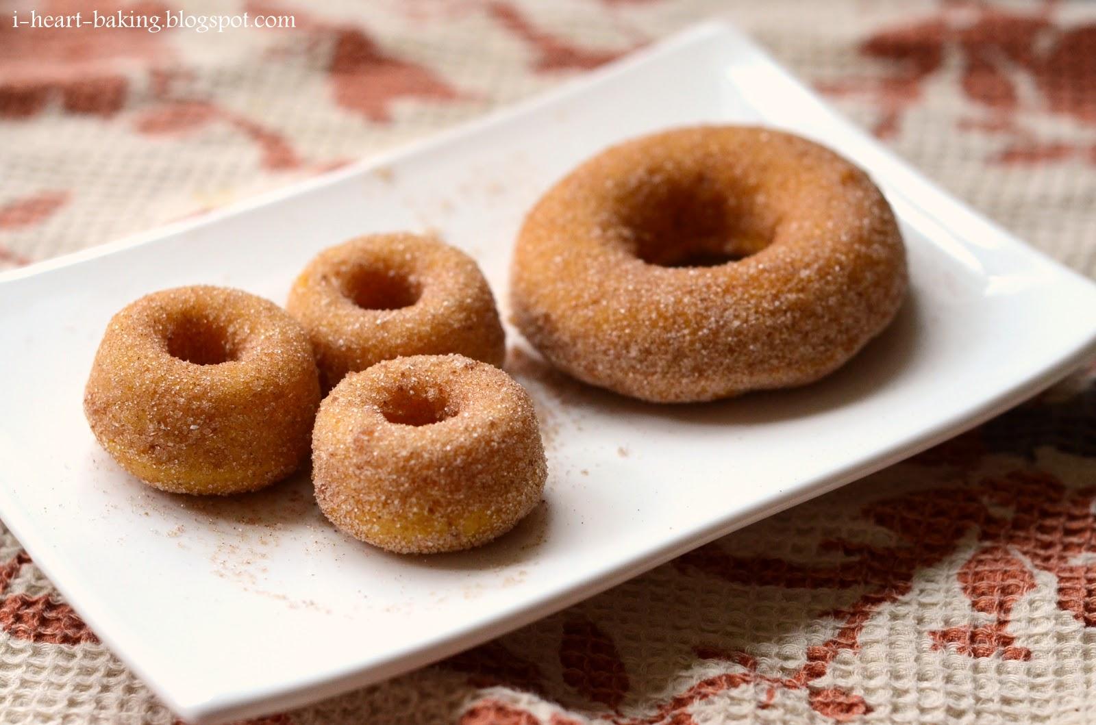 heart baking!: baked pumpkin doughnuts