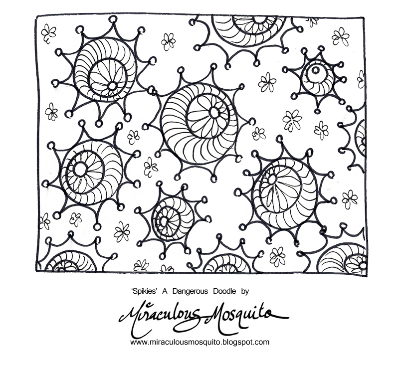 Another dangerous doodle 39 spikies 39 pattern tutorial video for Doodle tutorial