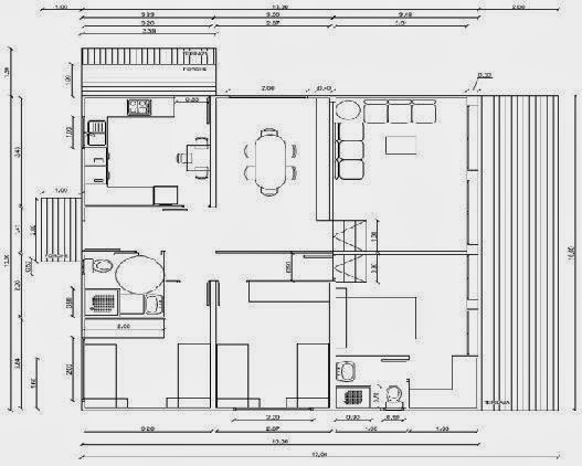 Planos de casas plano de casa con medidas for Coste reforma integral piso 90 metros