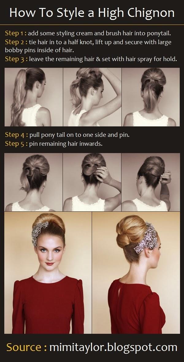 Coiffure pour des cheveux long attaché