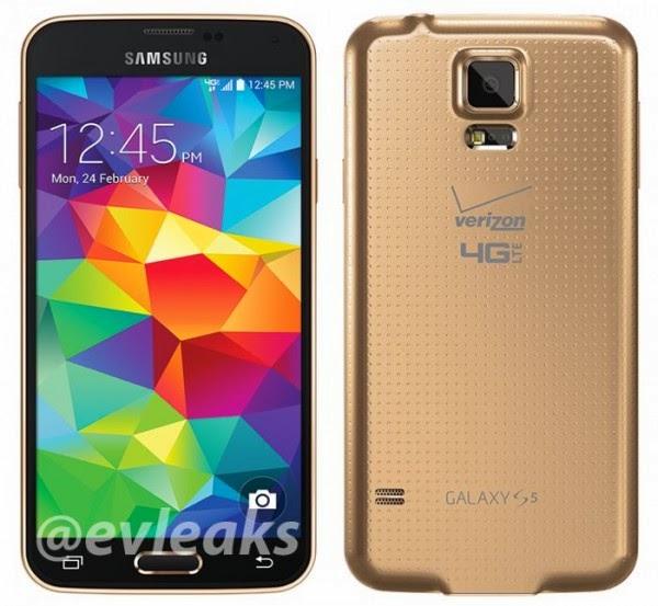 Galaxy S5 Gold (Altın Renkli) Modeli